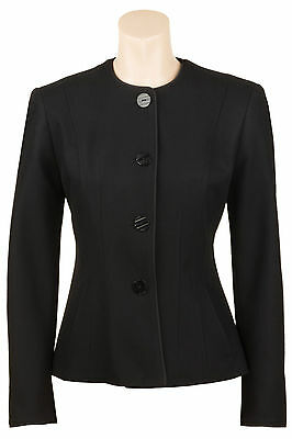 Busy Black Wool Blend Ladies Jacket