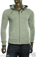Mens Tommy Hilfiger Full Zip Gray Turley Hoodie Sweat Track Jacket S