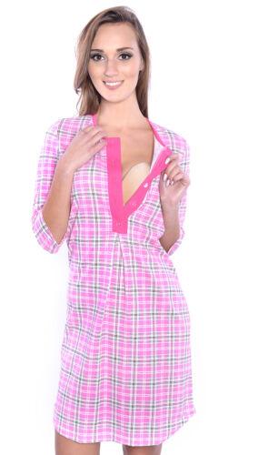 2 in1 Hübsches Stillnachthemd Nachthemd Umstandsnachthemd 100/% Baumwolle 4016