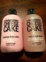 Hempz Treats Strawberry Cheesecake Delicious Lotion + Herbal Body Wash 18.6 Oz