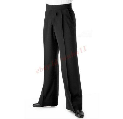 Mens Smooth Latin Salsa Ballroom Dance Pants Trouser Business Casual Dress Zsell