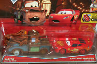 Disney Pixar Cars 2-pack Mater With No Tires & Lightning Mcqueen With No Tires