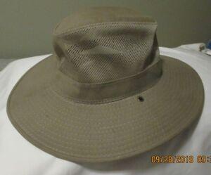 552da61e Safari Hat Mesh Dorfman Pacific Co DPC 100% Cotton Khaki Mens Size ...