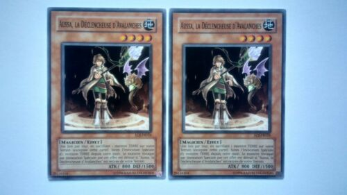 Lot 2 cards yu gi oh aussa the hike of avalanches eoj-fr026
