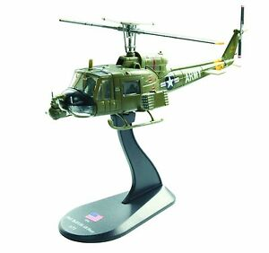 BELL-UH-1B-Huey-diecast-1-72-helicopter-model-Amercom-HY-1