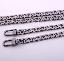 40CM Gun Black Metal Purse Chain Strap Handle Shoulder Crossbody Bag Replacement