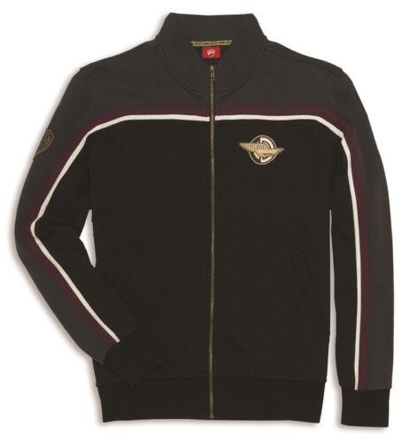 Ducati Meccanica Sweater Jacket Jumper Sweatshirt Vintage Black Grey New