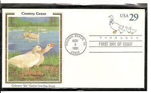 US-Scott-U624-Country-Geese-FDC-Colorano-silk-Cachet