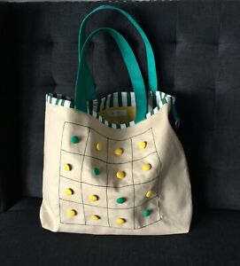 050195aeb9a4 NEW Cotton Shopping Shoulder Tote Handmade Bag Fully Lined Buttons ...