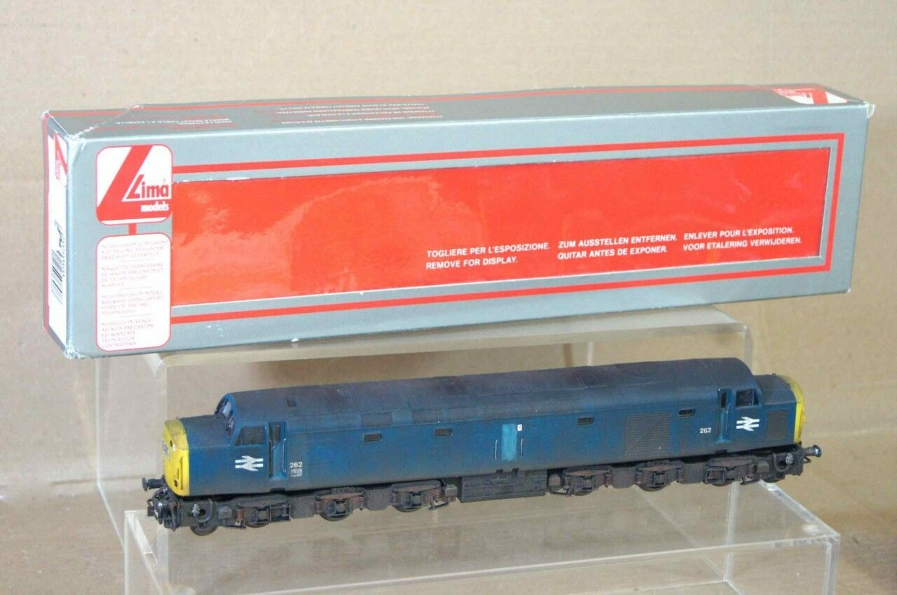 LIMA 5060 KIT BUILT BR blueE 1-CO-CO-1 CLASS 40 LOCO 262 WEATHERED MINT BOXED mv