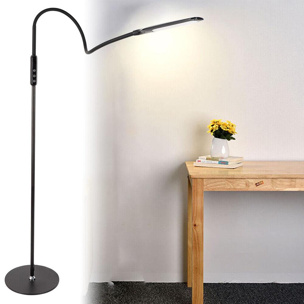 Nagelneu Schwarz Touch-Steuerung 9W LED Augenschutz Drehbar Dimmbar Stehlamp DHL