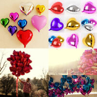 5/10pcs 18'' Heart Foil Helium Balloons For Wedding Birthday Party Engagement5hu