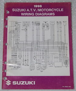 1996 Suzuki Motorcycle ATV Wiring Diagrams Manual ...