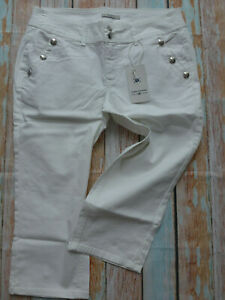 Jeans-7-8-Trousers-Tom-Tailor-Size-34-to-50-White-Buttons-413