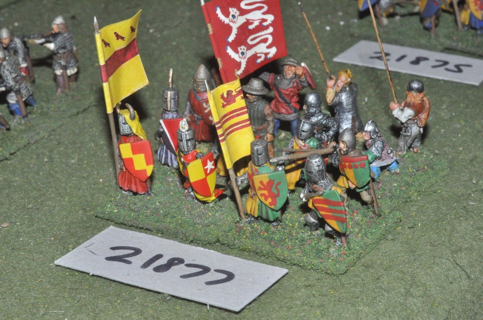 25mm medieval   english - dismounted men at arms arms arms 16 figs infantry - inf (21877) 804ddc