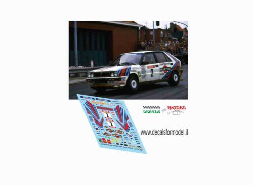 DECALS 1//43 LANCIA DELTA 4WD SABY RALLY YPRES 1987