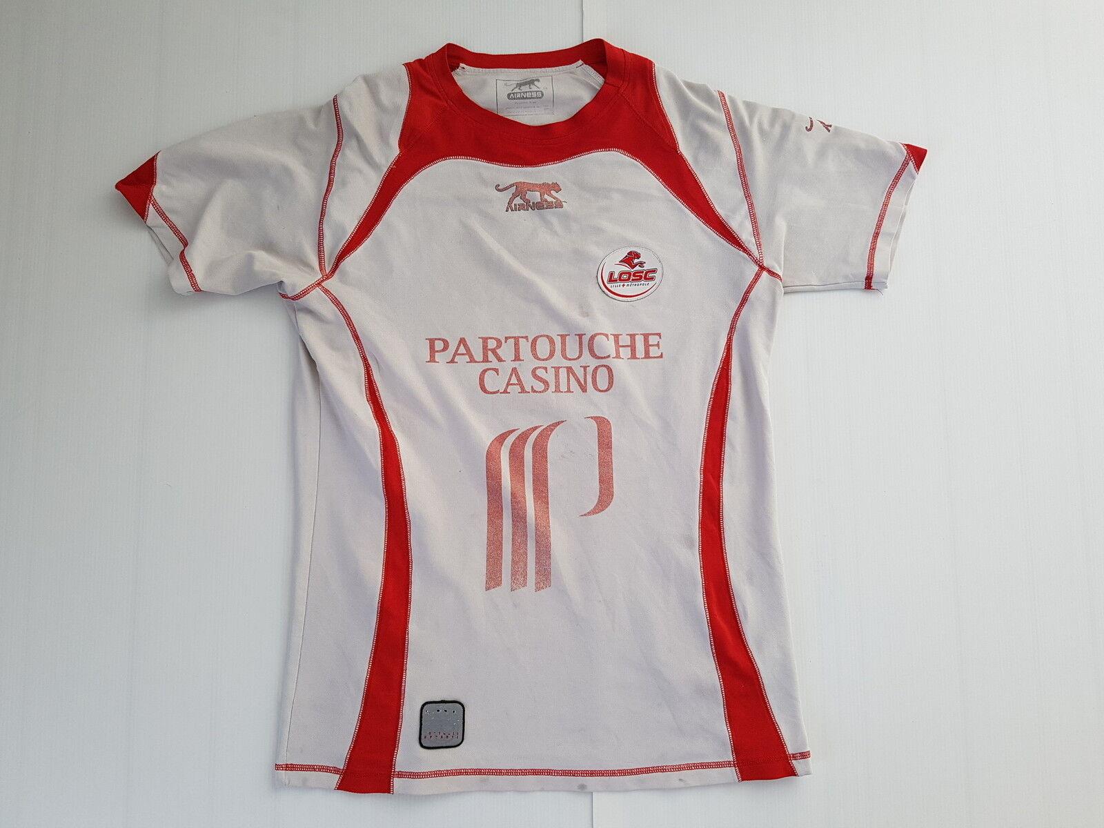 Lille Losc Airness Soccer Jersey Worn Shirt Vintage Maglia Trikot