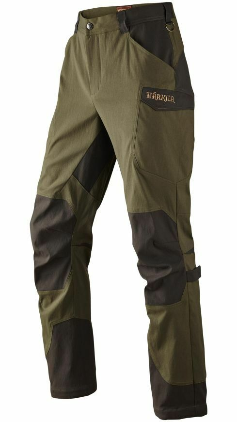 Harkila Ingels Mens Trousers Lightweight Breathable Reinforcing Lake Green