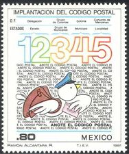 Mexico 1981 Postcodes/Pigeon/Letters/Post/mail/Animation/Birds 1v (n42905)
