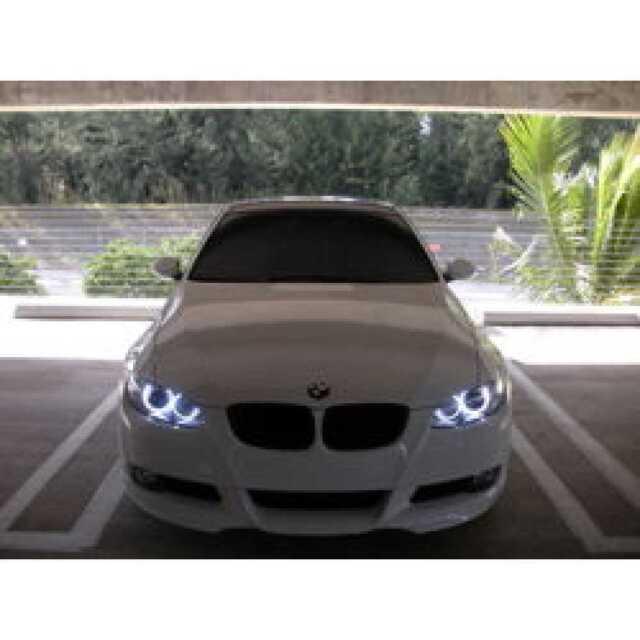 BRIGHT BMW E87 E90 E92 E93 E70 X5 LED White Angel Eye Halo Rings Parking Lights