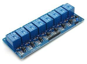 8 Kanal Relais Relay Modul Karte 5V mit Optokopplern Arduino Raspberry Pi