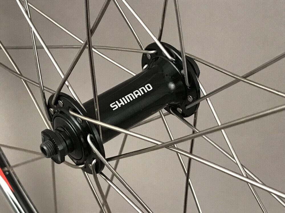 Image 2 - Mach1 Rims Black Road Bike Wheelset 28h Shimano Tiagra Hubs 8 9 10 11 Speed NEW