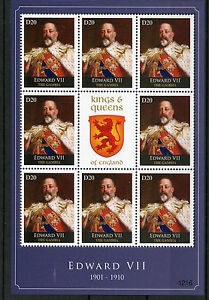 Gambia 2012 MNH Kings & Queens of England Edward VII 8v M/S Royalty Stamps