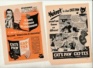 Vtg-50S-60S-Cat-s-Paw-Rubber-Ad-Paper-Magazine-5-PAGES-FRENCH