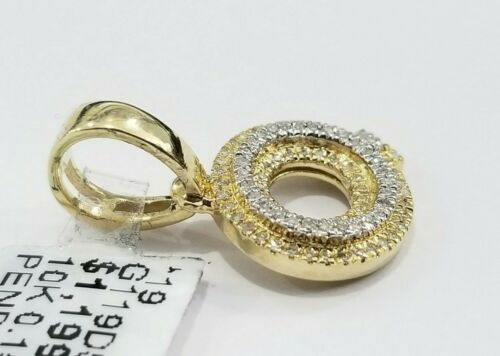 Details about  /Sale 10K Yellow Gold Genuine Diamond Initial Letter Q  Pendant Charm Tiny Small