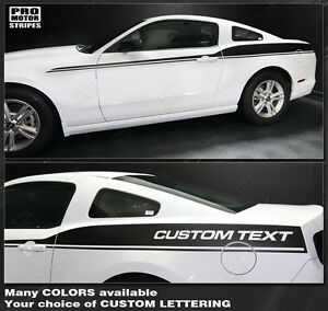 Ford Mustang 2005-2019 Rear Quarter Side Stripes Decals Choose Color