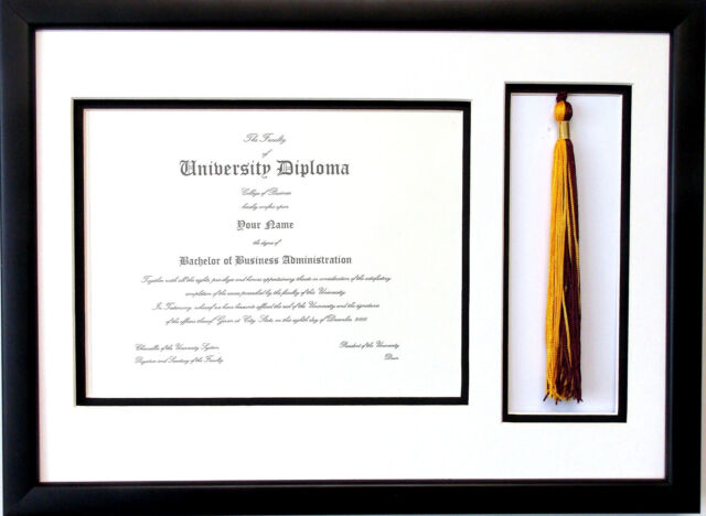 """Diploma Certificate Cover Holder /""""Diploma Of Graduation/"""" Protect Black 8.5/"""" x 11"""