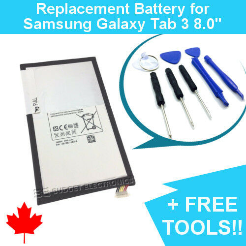 Samsung Galaxy Tab 3 8.0 Replacement Battery T310//T4450E with FREE TOOLS 4450mAh