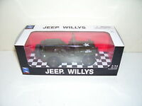 Usa Willys Green Jeep Die Cast Car Scale 1:32 Mint Box Ray