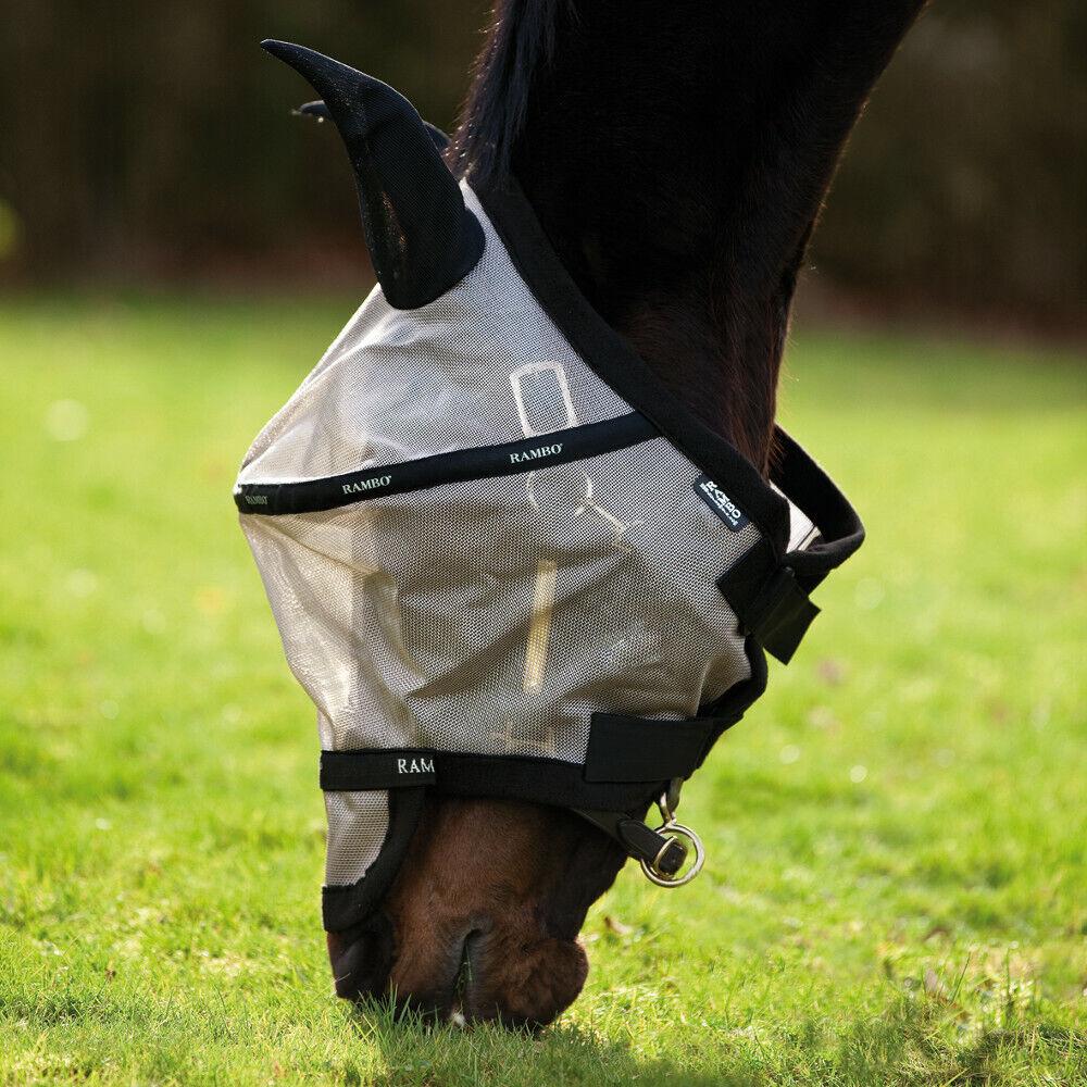 Horseware Rambo plus fly Mask obtenido-tostada  negro  Esperando por ti