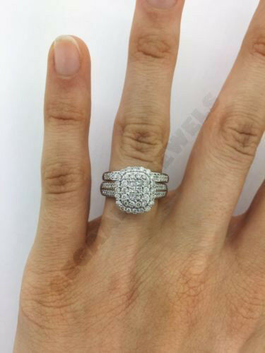3ct d vvs1 diamond bridal set princess cut engagement wedding ring 14k gold over