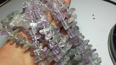 Polished kunzite cabochons beading strands necklaces 16* long beads drilled 10pc