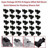 30 Pcs Offset 45 Degree Rail Mount Quick Release For Weaver Picatinny Rail