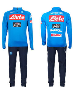 Image is loading SSC-Napoli-Naples-Kappa-Training-Tracksuit-Half-Zip-