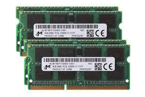 32G-Micron-4X-8GB-2RX8-DDR3L-1600MHz-PC3L-12800S-204PIN-SODIMM-Laptop-Memory-RAM