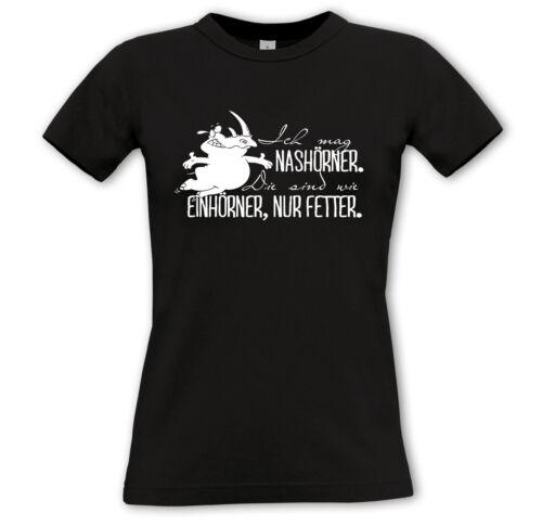 elles sont comme licornes... - Girls shirt-Licorne unicorn J/' aime rhinocéros 2
