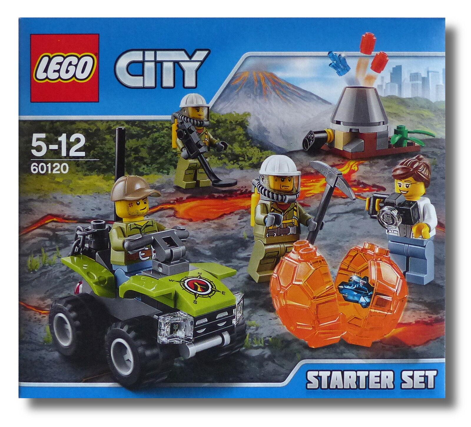 LEGO ® City 60120  15 X volcan Starter-Set  volcan chercheurs Nouveau Neuf dans sa boîte New En parfait état, dans sa boîte scellée