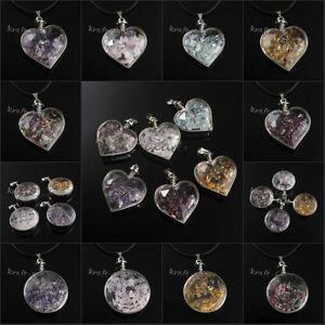 Natural-Gravel-Amethyst-Rose-Quartz-Tourmaline-Stone-Wish-Bottle-Pendant-Jewelry