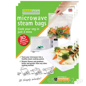 Image Is Loading Quickasteam Medium Microwave Steam Cook Bags X 90