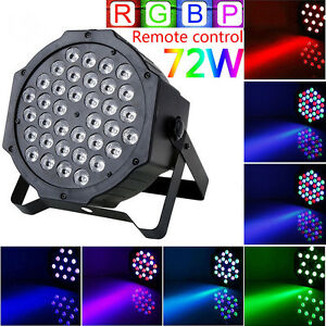 72W 36LED RGB Stage Light DMX512 Flat Par Lamp Club For DJ Disco Party Lighting