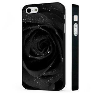 Rose-Black-Rain-Drop-BLACK-PHONE-CASE-COVER-fits-iPHONE