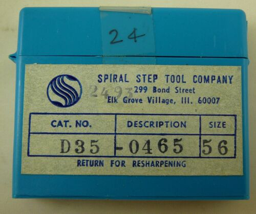 """1.5/"""" OAL Solid Carbide PCB Drill Bits NEW 24 Spiral Step Tool  #56 .0465/"""" Dia"""