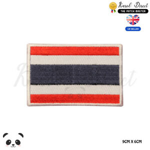 THAILAND-National-Flag-Embroidered-Iron-On-Sew-On-Patch-Badge-For-Clothes-etc
