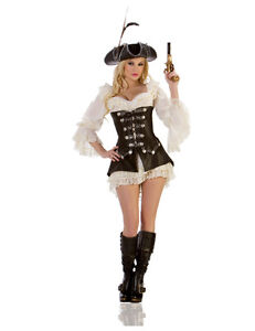 LAST-2-S-DELUXE-ROGUE-PIRATE-WENCH-HIGHWAYMAN-STARLINE-COSTUME-LACE-DRESS