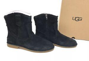 e42e6531bcb Details about UGG Australia Catica Women's Winter Boot Black Suede 1096913  Side Zip Fashion