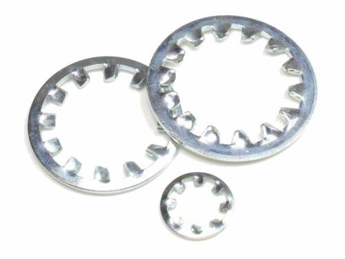 M6 J AZ M 6,4 DIN 6797 verzinkte Zahnscheiben Form I innengezahnte Federstahl f